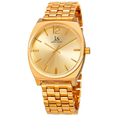 Joshua & Sons Mens Gold Tone Bracelet Watch-J-102yg