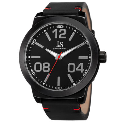 Joshua & Sons Mens Black Strap Watch-J-103bk