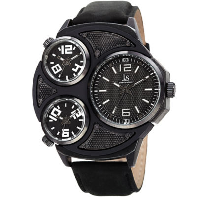 Joshua & Sons Mens Black Strap Watch-J-105bk