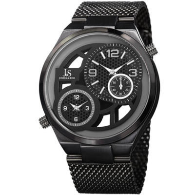 Joshua & Sons Mens Black Strap Watch-J-111bk