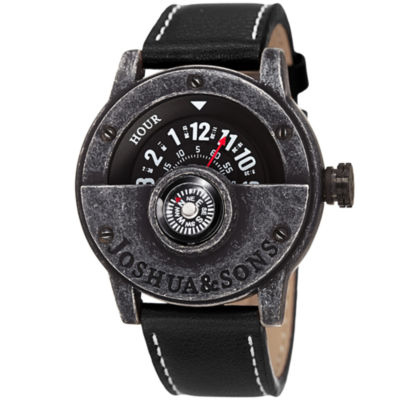 Joshua & Sons Mens Black Strap Watch-J-116bk