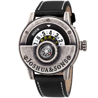 Joshua & Sons Mens Black Strap Watch-J-116ssb