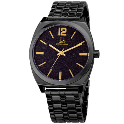 Joshua & Sons Mens Black Strap Watch-J-122bk