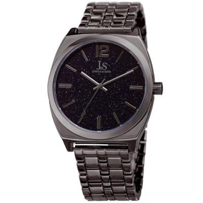 Joshua & Sons Mens Gray Strap Watch-J-122gn