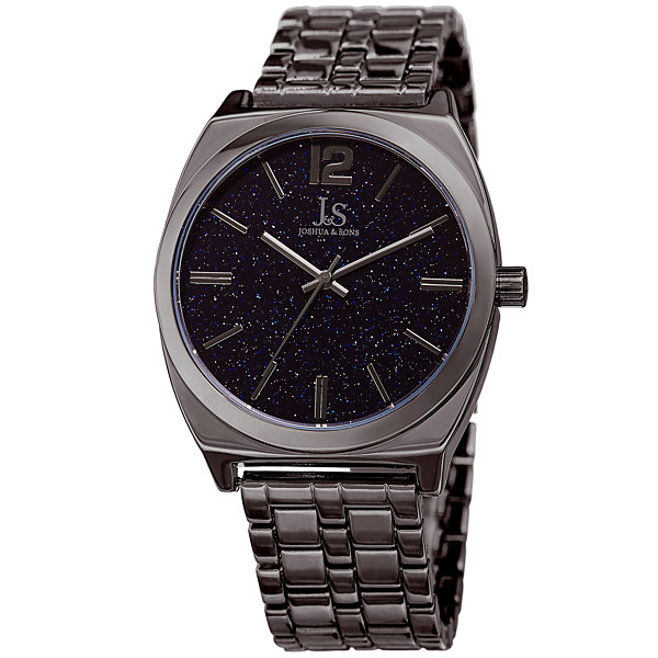 Joshua & Sons Mens Gray Strap Watch-J-122gn