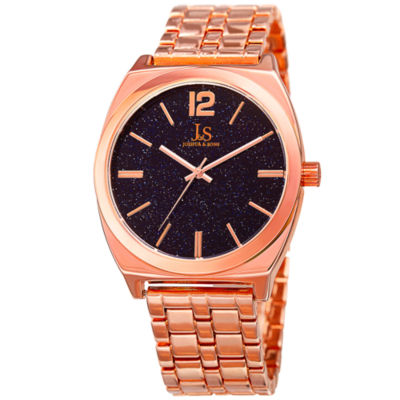 Joshua & Sons Mens Rose Goldtone Strap Watch-J-122rg