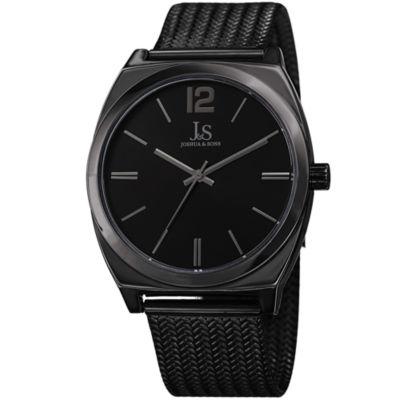 Joshua & Sons Mens Black Strap Watch-J-124bk