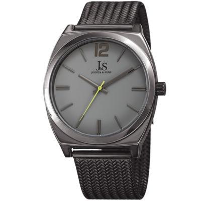 Joshua & Sons Mens Gray Strap Watch-J-124gnlm