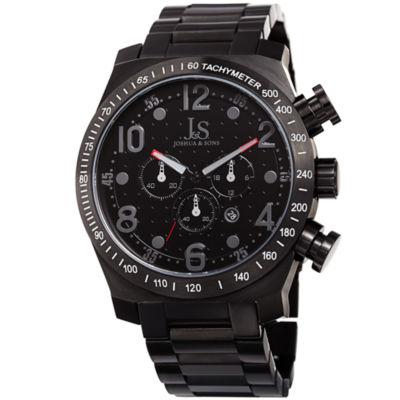 Joshua & Sons Mens Black Strap Watch-J-127gy