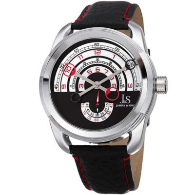 Joshua & Sons Mens Black Strap Watch-J-129rd