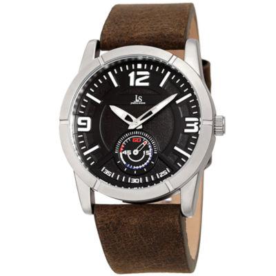 Joshua & Sons Mens Brown Strap Watch-J-135bk