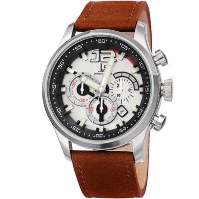 Joshua & Sons Mens Brown Strap Watch-J-137tn
