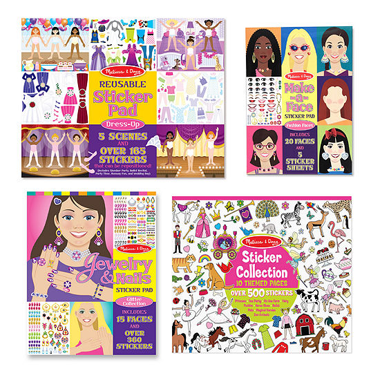 Melissa & Doug Dress Up  Jewelry  Princess And More Sticker Bundle (4 Pcs)