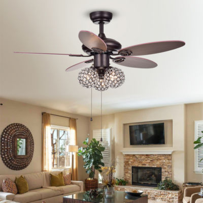 "Casimer 5-blade 3-light Crystal Bronze 42"" Ceiling Fan"