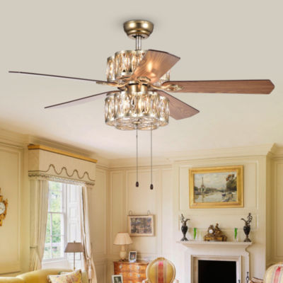 Gaspar 52-Inch 5-Blade Modern Ceiling Fan Antique Silver