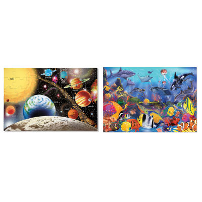 Melissa & Doug® Solar System and Underwater Puzzle Bundle