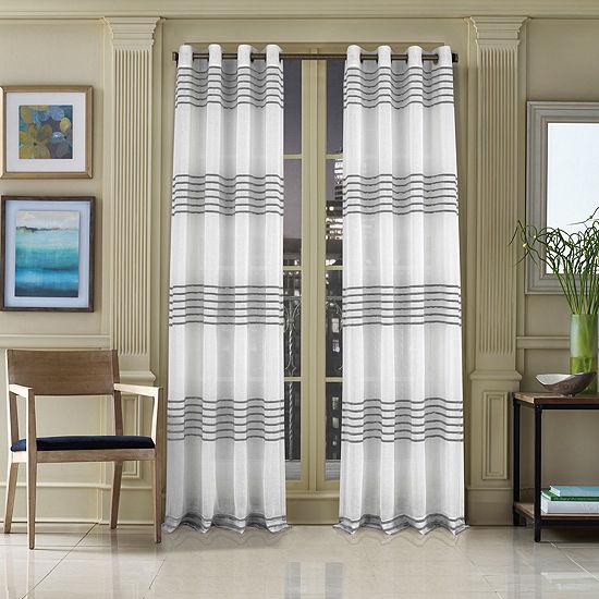 Queen Street Freeport Light-Filtering Grommet-Top Single Curtain Panel