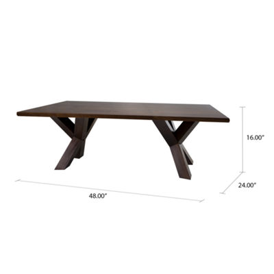 "American Trails Ridgefield Coffee Table with 1"" Thick Solid Walnut Wood Top"