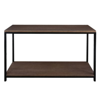 American Trails Studio Console Table with Solid Red Oak Top and Shelf