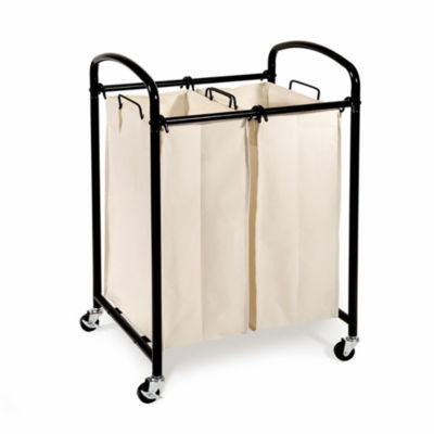Seville Classics® Double Bag Laundry Hamper Sorter Cart