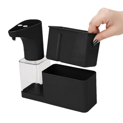 Mind Reader 16.9oz Refillable Hands-Free Automatic Soap Dispenser Sensor Pump with Storage Compartment Caddy