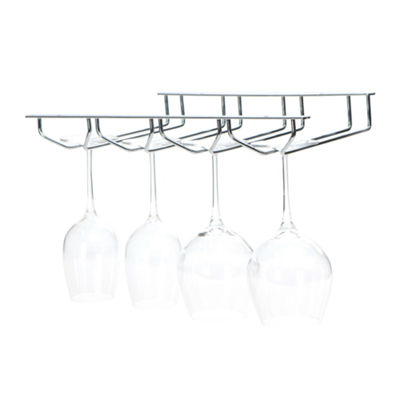 Mind Reader 'Rail' 4 Row Chrome Stemware Holder, Silver
