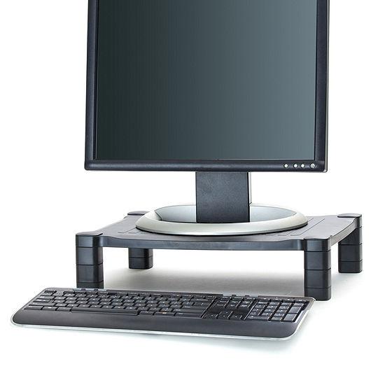 Mind Reader 'Guide' Adjustable Plastic Monitor/ Laptop Stand, Black