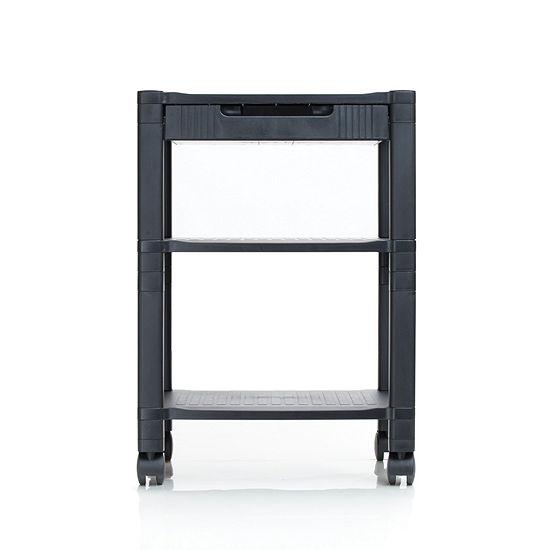 Mind Reader 'Classify' 3 Shelf  Mobile Printer Cart with Cord Management, Black
