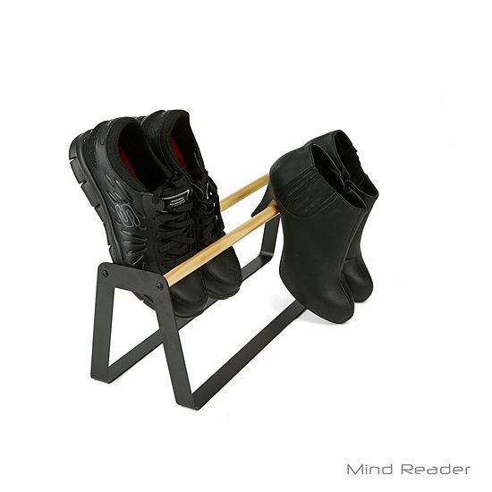Mind Reader In-House Slipper and Shoe Holder, Black