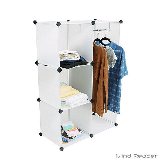 Mind Reader Multi-Purpose and Wardrobe Magic Cube, White