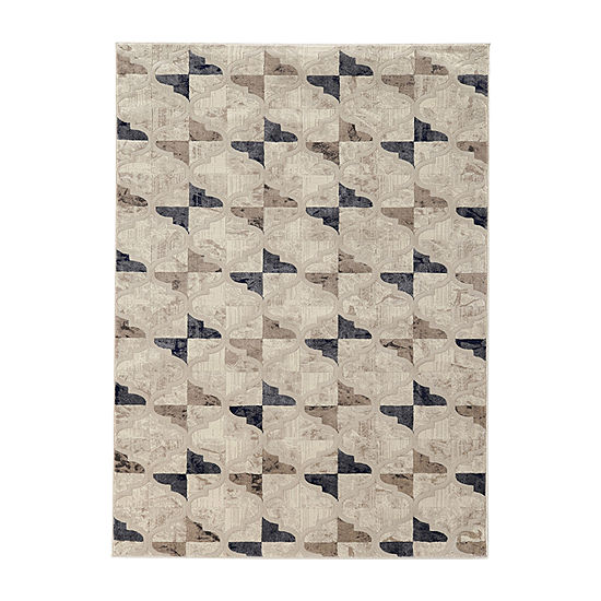 Iseo Isac Modern Geometric Contemporary Area Rug