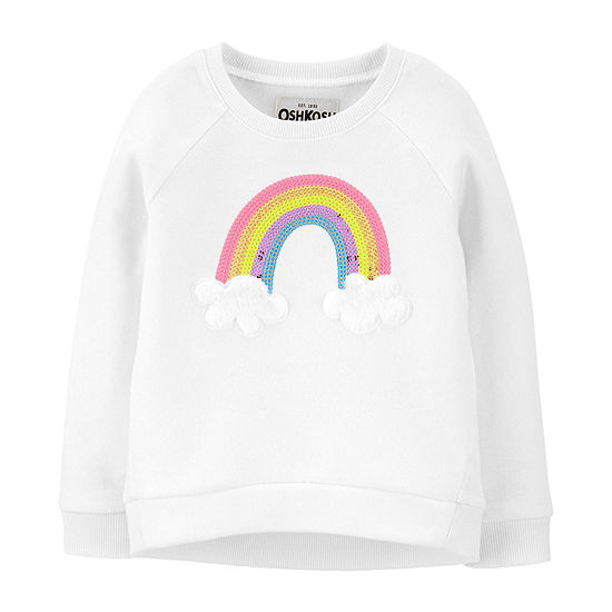 Oshkosh Toddler Girls Round Neck Long Sleeve Sweatshirt