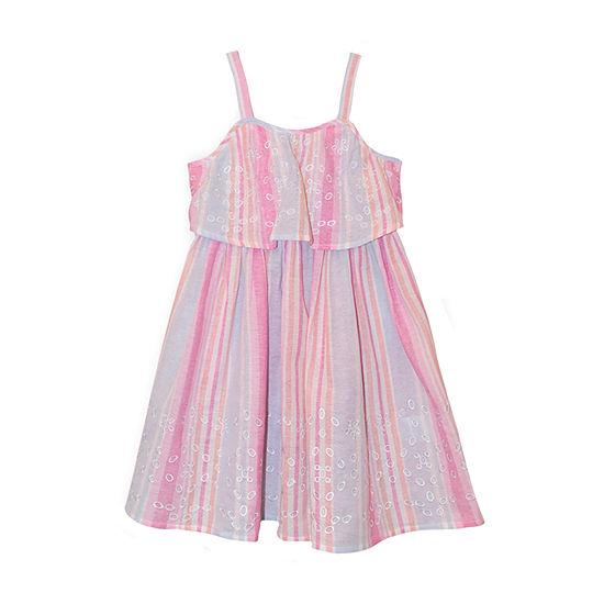 Nannette Baby - Toddler Girls Sleeveless Striped A-Line Dress