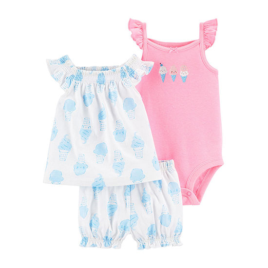 Carter's Baby Girls 3-pc. Short Set