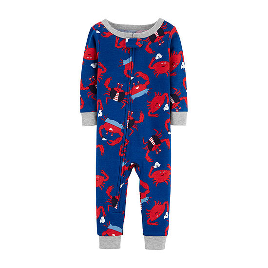 Carter's Baby Boys Knit Long Sleeve One Piece Pajama