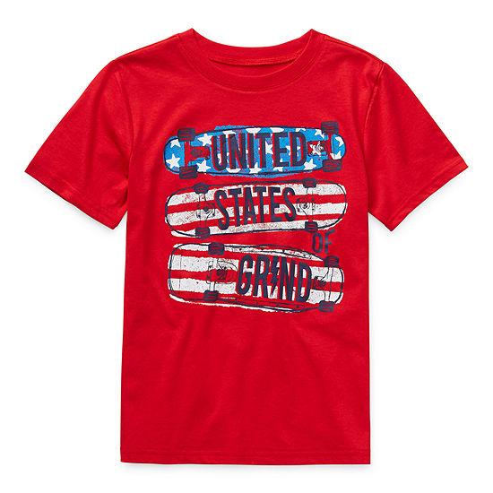 City Streets Little & Big Boys Crew Neck Short Sleeve T-Shirt
