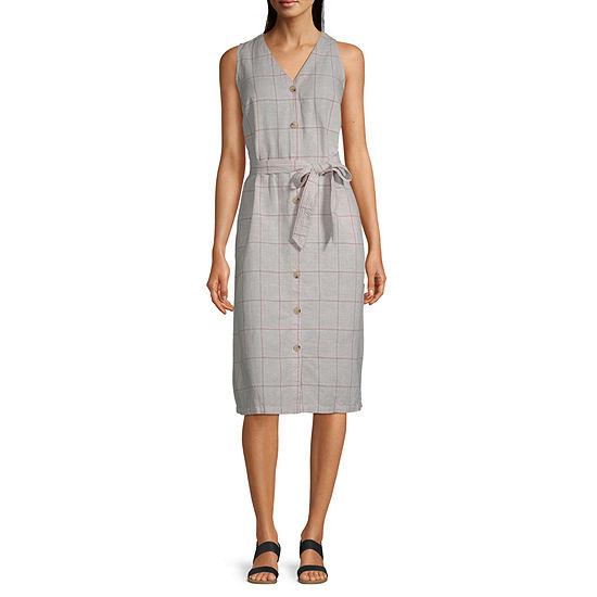 Liz Claiborne Sleeveless Plaid A-Line Dress