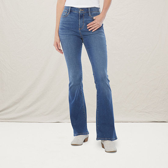 a.n.a - Tall Womens High Rise Regular Fit Flare Jean