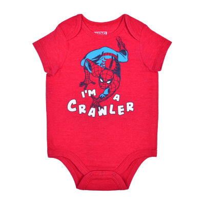 Okie Dokie Baby Boys Spiderman Bodysuit