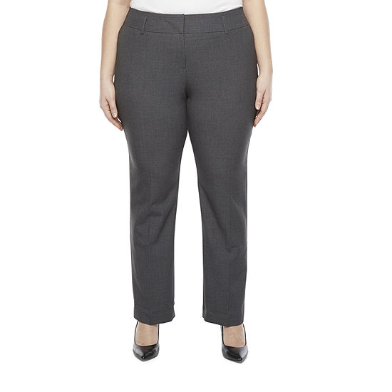 Worthington-Plus Curvy Fit Straight Trouser