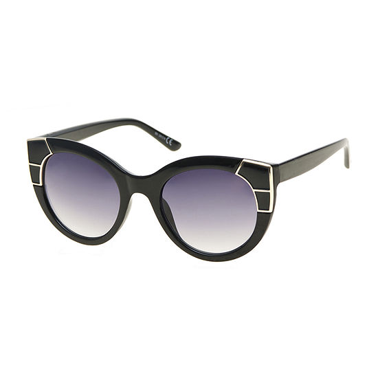Mixit Chunky Round Cat With Enamel Womens Sunglasses