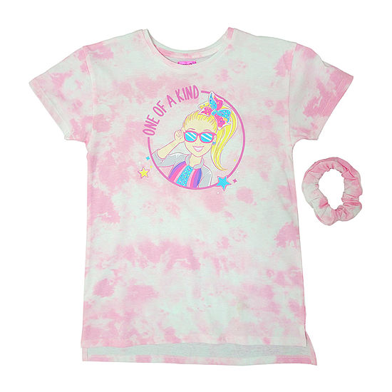 Jojo Siwa Little & Big Girls Crew Neck JoJo Siwa Short Sleeve Graphic T-Shirt