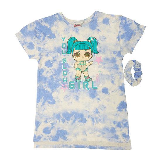 LOL Surprise! Little & Big Girls Crew Neck LOL Short Sleeve Graphic T-Shirt