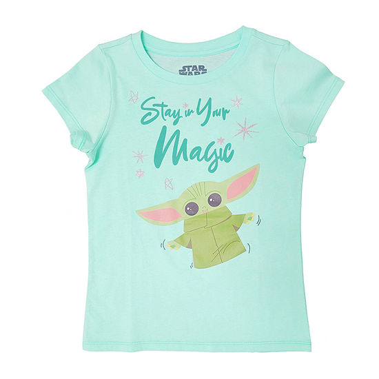 Disney Little & Big Girls Crew Neck Star Wars Short Sleeve Graphic T-Shirt