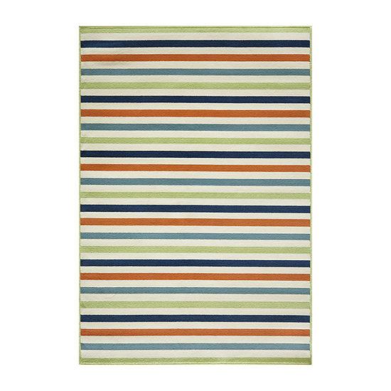 Momeni® Baja Stripe Indoor/Outdoor Rectangular Rug