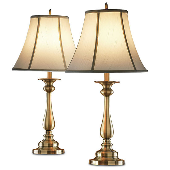 Jcpenney home set of 2 hennessey table lamps jcpenney home set of 2 hennessey antique brass table lamps aloadofball Images