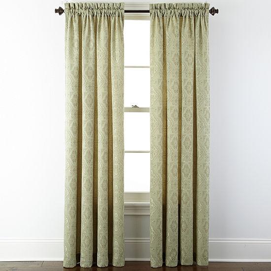 Portofino Light-Filtering Rod-Pocket Single Curtain Panel