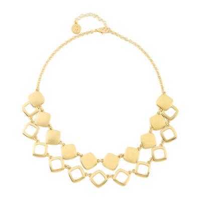Liz Claiborne® Gold-Tone 2-Row Drama Necklace