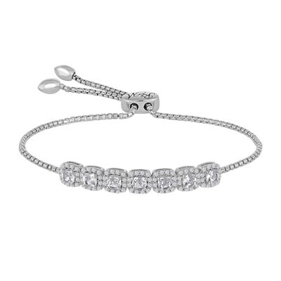 Rhythm and Muse Lab-Created White Sapphire Sterling Silver Bracelet
