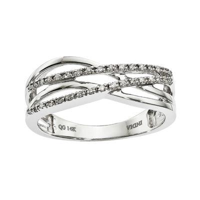 1/10 CT. T.W. Diamond 14K White Gold Ring